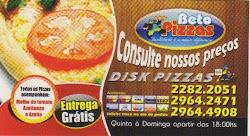 Beto Pizzaria. A Nº 1 da CT.