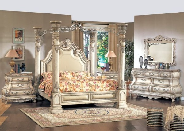 Antique white queen bedroom furniture furniture design for White queen bedroom set