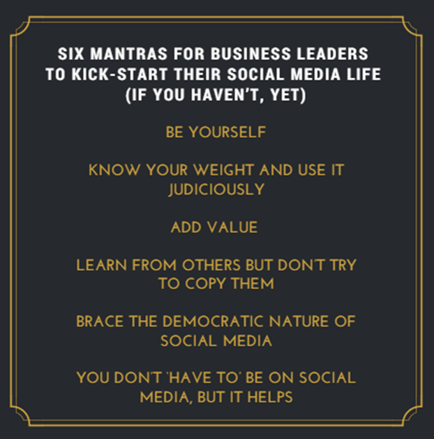 Social Media Mantras for Business Leaders