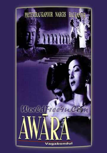 Poster Of Bollywood Movie Awaara (1951) 300MB Compressed Small Size Pc Movie Free Download worldfree4u.com