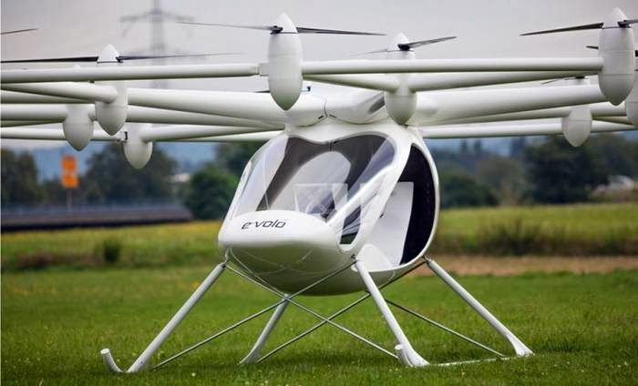 E-Volo VC200 that has become the first electric helicopter to make a successful maiden flight, with multiple flights lasting several minutes and reaching heights of nearly 22 meters high.