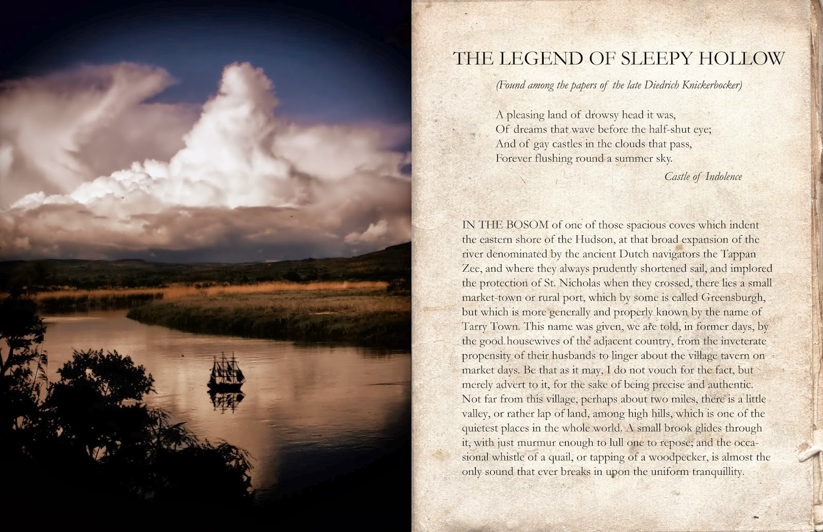 essay about the legend of sleepy hollow Although the movie sleepy hollow is based upon the book the legend of sleepy hollow, there are also distinctions which allow each to tell their this essay will explore different levels of romanticism's sublime style in washington irving's rip van winkle, the legend of sleepy hollow and herman.