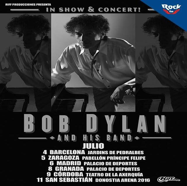 Que viene BOB DYLAN!!! - Gira Julio 2015