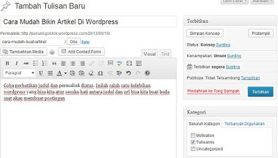 cara bikin posting di wordpress