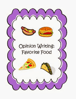 http://www.teacherspayteachers.com/Product/Opinion-Writing-Favorite-Food-Kindergarten-1st-grade-2nd-grade-509497