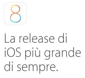 ios8 per iphone e ipad
