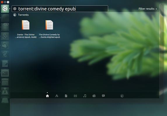 Ubuntu torrent search Unity scope