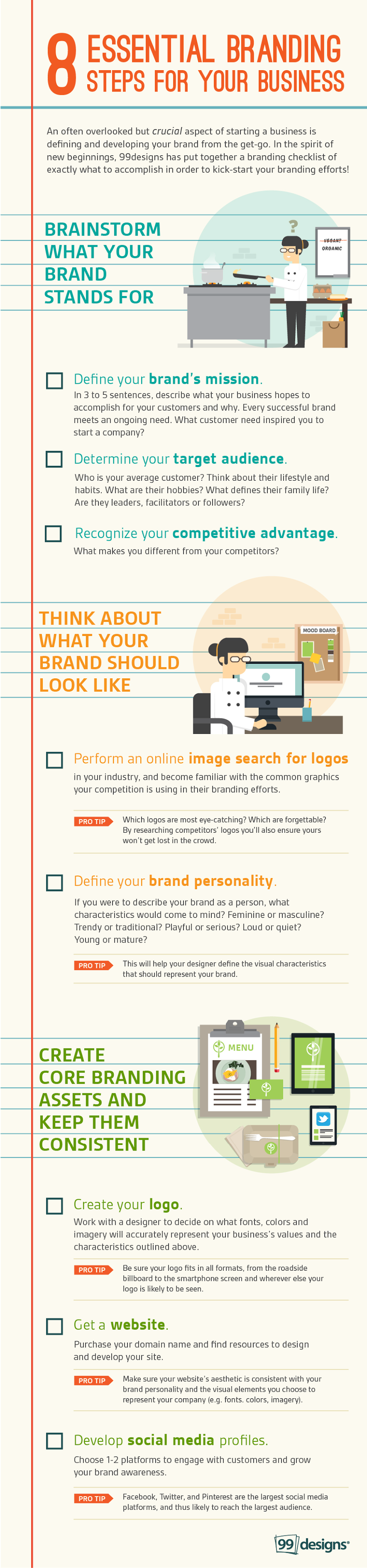 8 Essential Branding Steps For Your Business - #infographic