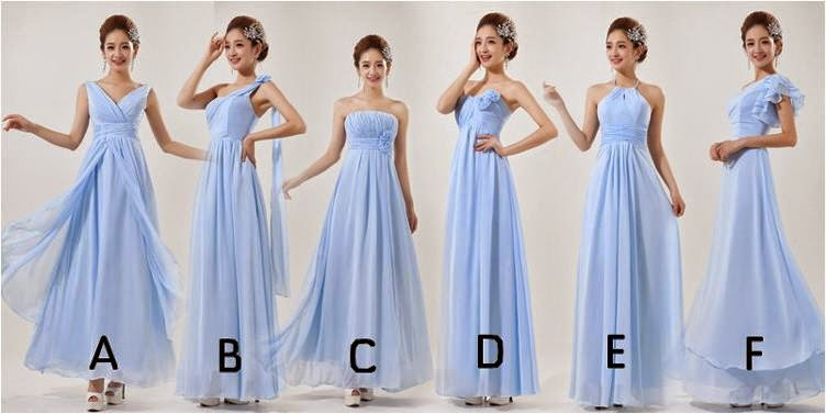 Six-Design Bridesmaid Dresses