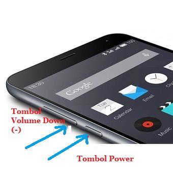 Cara Screenshot HP Meizu M2 Note