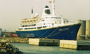 "Former ""INFANTE DOM HENRIQUE"" near the end of her career, laid up in Barcelona"