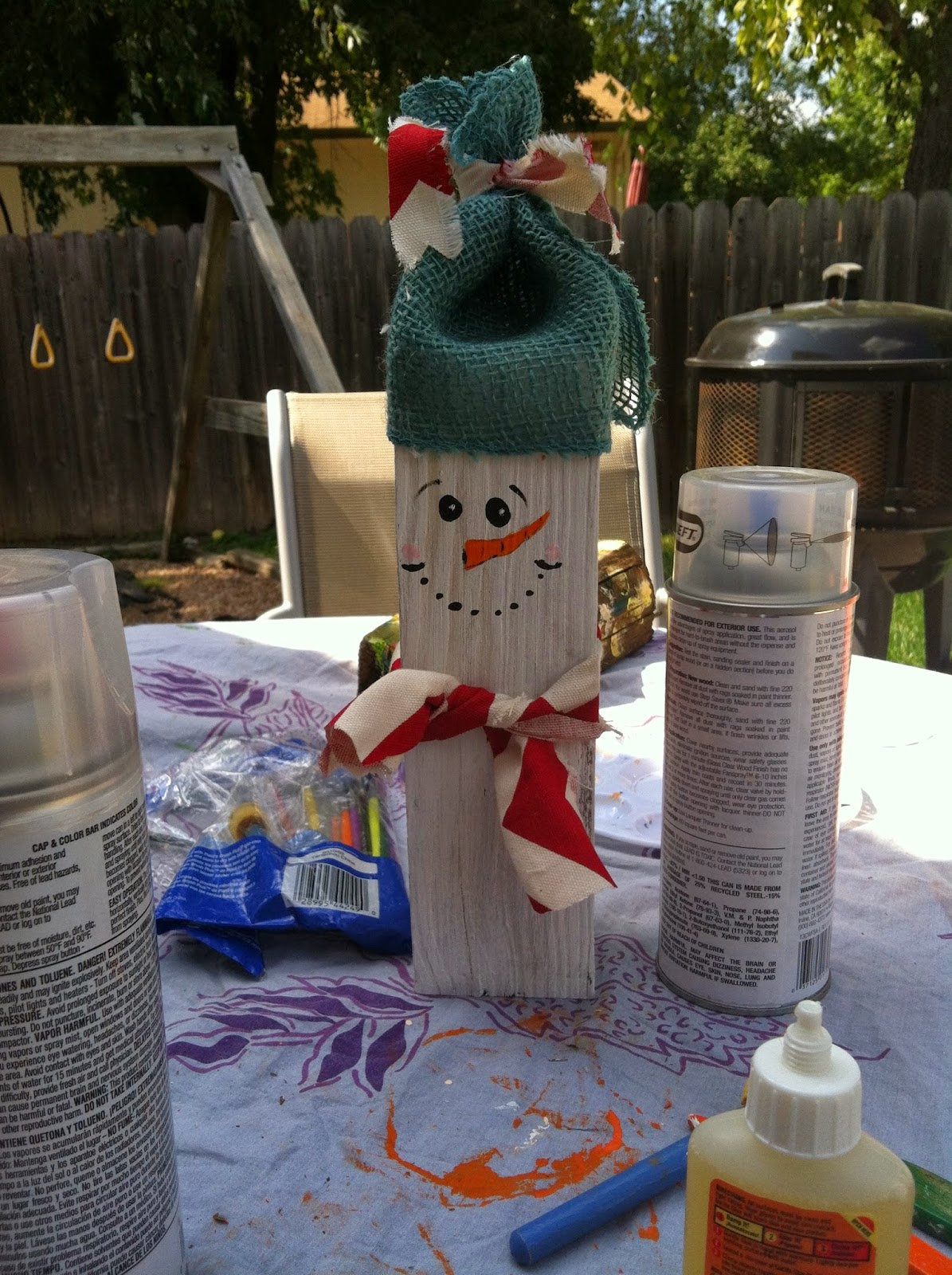 Tutorial: Primitive Reclaimed Wood Snowmen