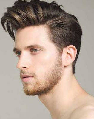 model side swept rambut pompadour_326001597
