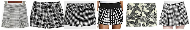 "Romwe Plaid Zipper Black and White Skirt Shorts $13.33 (regular $25.83)  Lucy Paris Plaid Shorts $18.14 (regular $48.00)  J. Crew Factory 3"" Printed Boardwalk Pull On Short $29.50 (regular $56.50)  Casual Couture Plaid Print Pleated Skort $29.50 (regular $59.00)   J. Crew Polynesian Floral Short $49.99 (regular $69.50)  L'Agence Pleated Wide Leg Plaid Shorts $80.00 (regular $230.00) alternate link"
