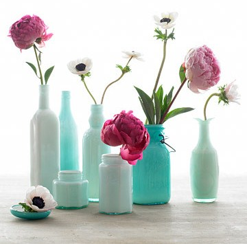 martha stewart enamel painted bottles