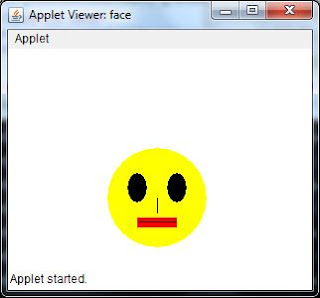 java code applet smiley human color face