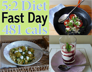 Typical 5:2 Diet Menu only 465 cals Breakfast, Lunch & Dinner