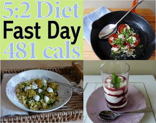 Typical 5:2 Diet Menu only 465 cals Breakfast, Lunch & Dinner