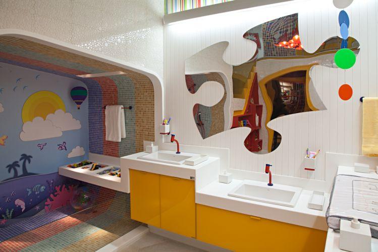 DECORANDO O BANHEIRO DAS CRIANÇAS  Papo de Design -> Decoracao De Banheiro Infantil Com Eva