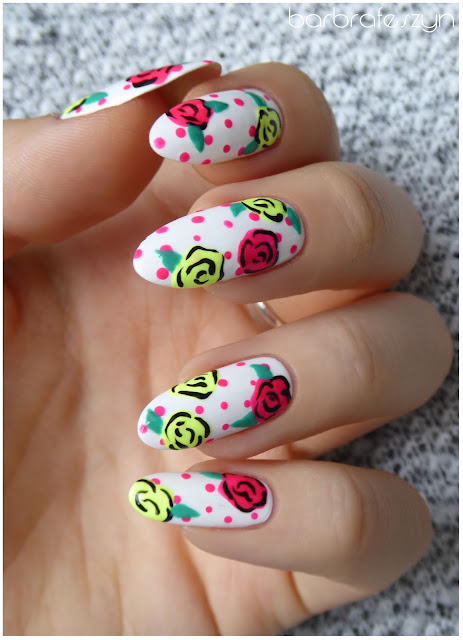 Neonowe kwiatki