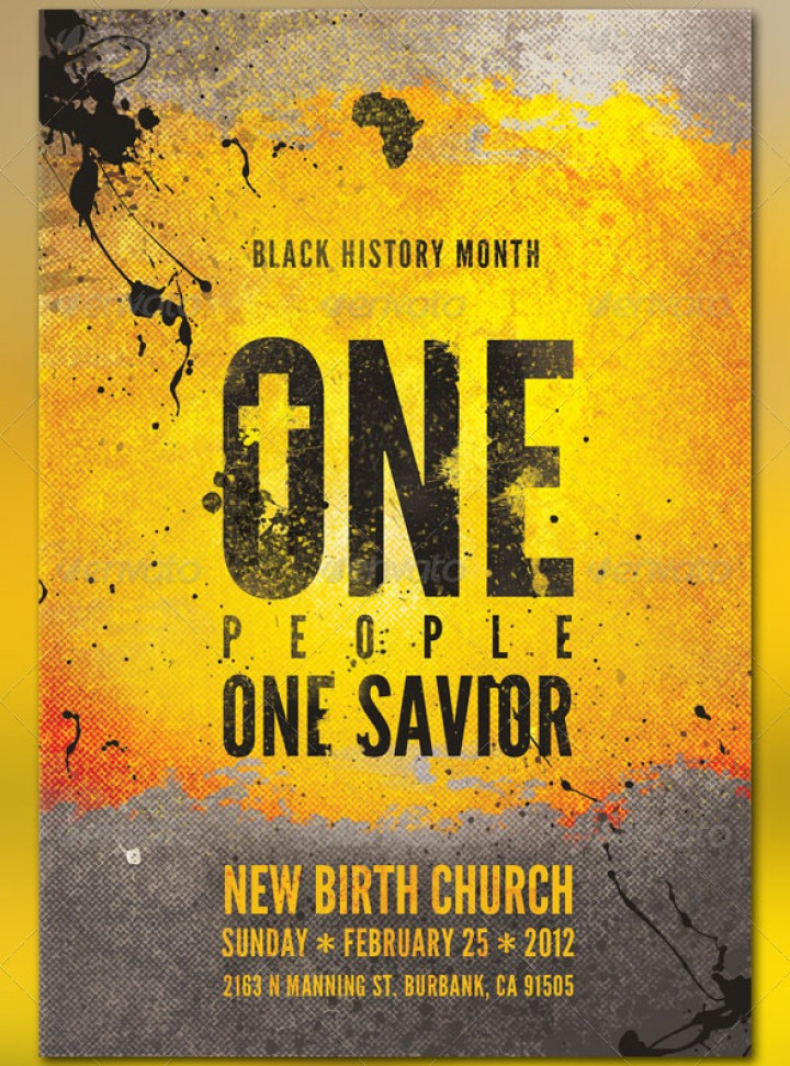 Black History Month Church Flyer Templates | GraphicMule | GraphicMule