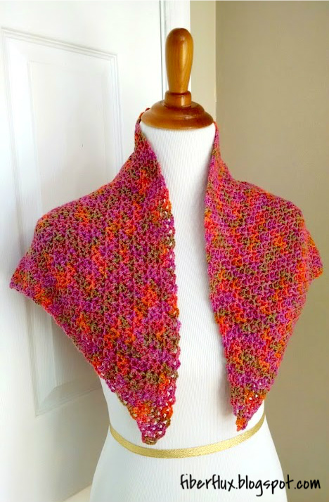 Crochet Shawl Pattern : Fiber Flux: Free Crochet Pattern...Zinnia Flower Shawl!