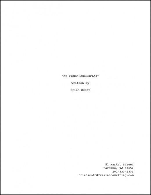 Screenwriting Page Numbering A Screenplay Creative