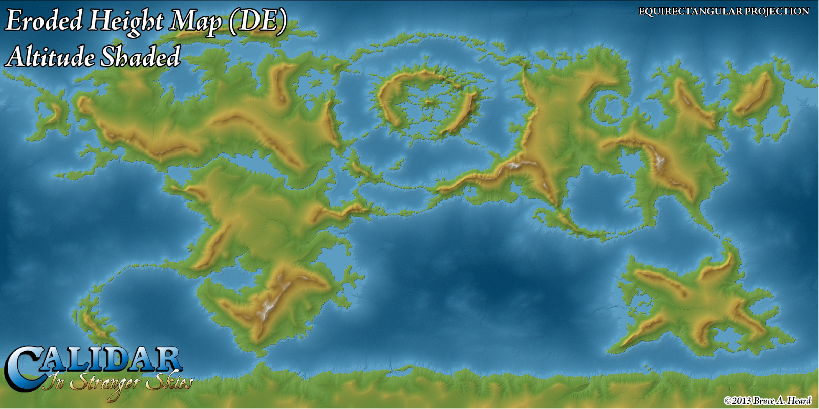 The Cartography Of Thorfinn Tait Worldbuilding Scale - World heightmap