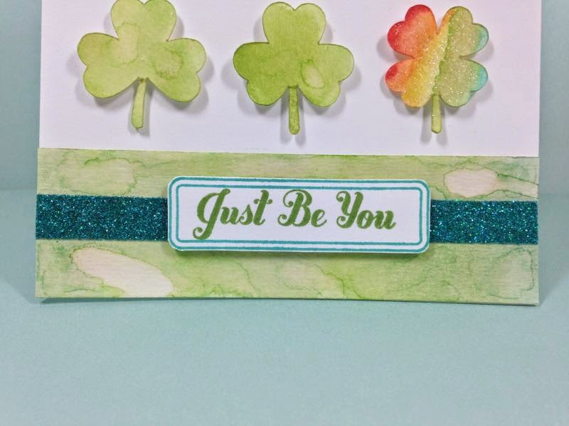 Cricut Just Be You card closeup