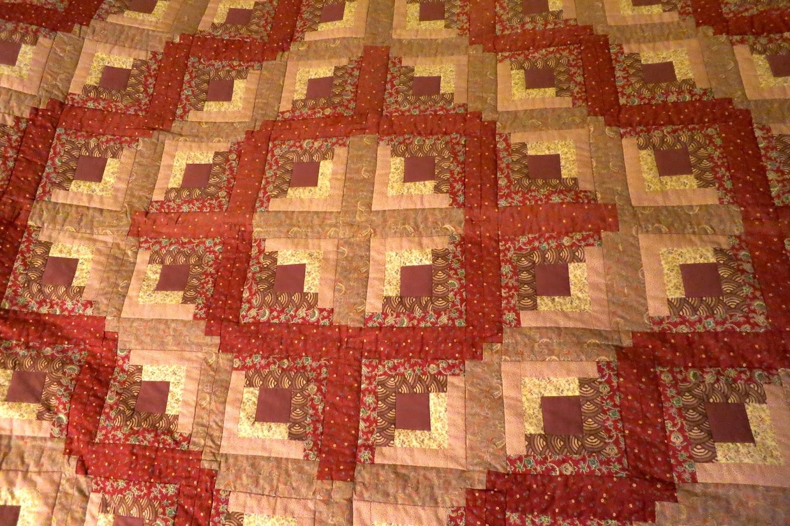 Log Cabin Quilt Pattern.