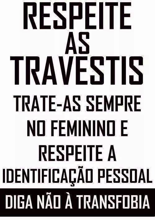 Respeite as Travestis