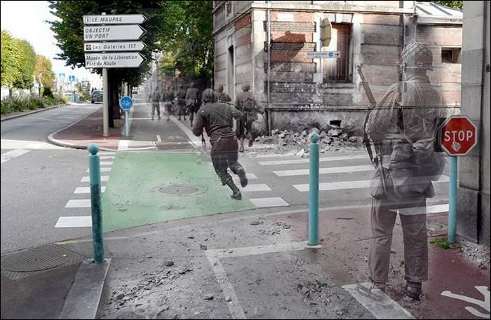 """""""Cherbourg, avenue de Paris, ancient Poste de Police, jardin Public."""""""
