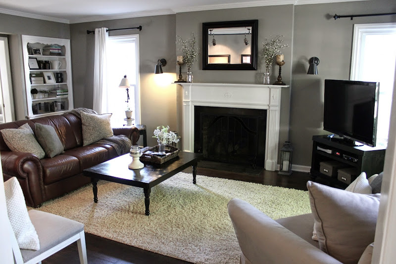 Living Room Decor Brown And Black (4 Image)