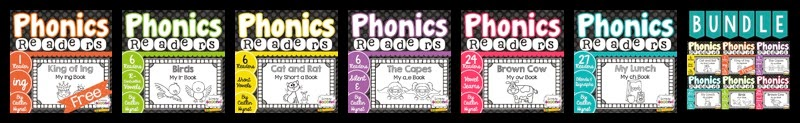 http://www.teacherspayteachers.com/Product/Phonics-Reader-Bundle-1326230