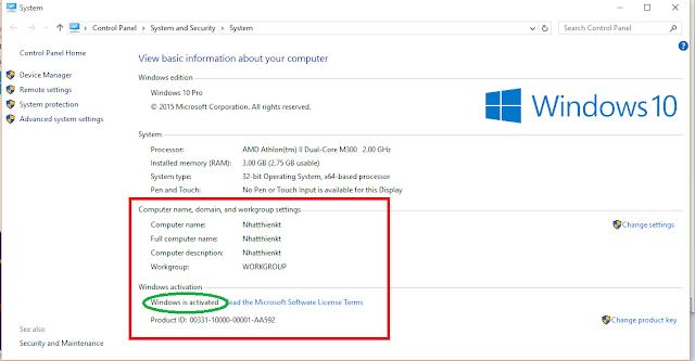 Activator Windows 10 pro final chỉ với 1 click chuột 8/2015