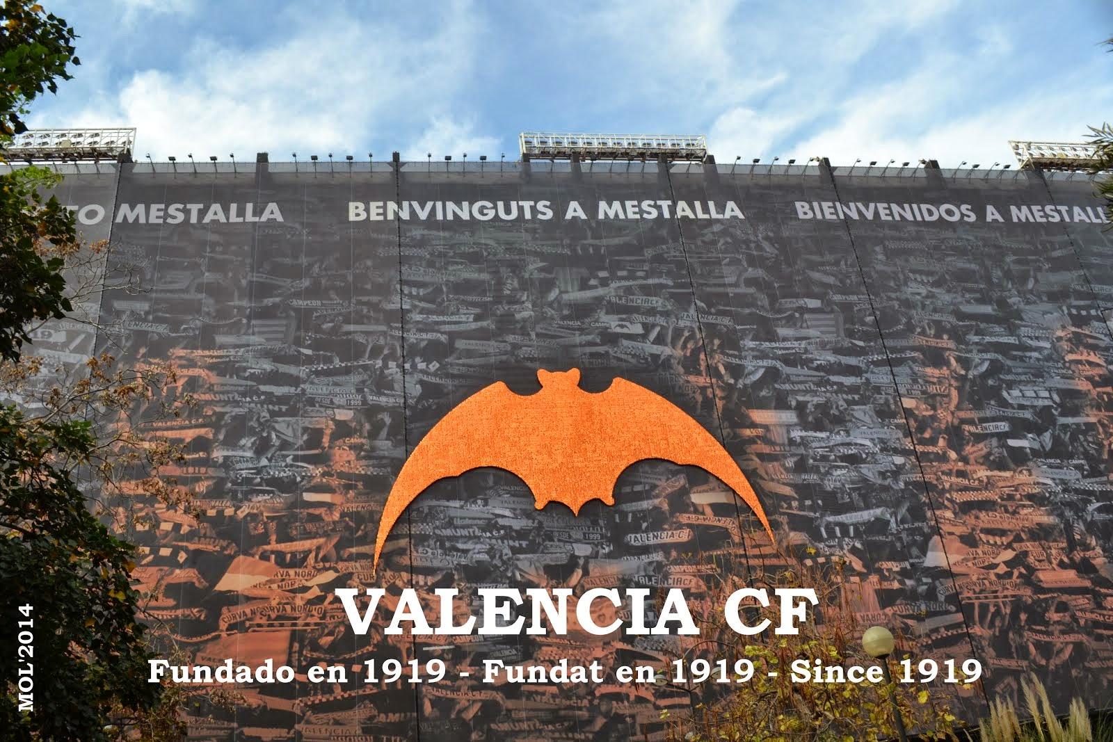 EL VALENCIA CF, FUNDAT EN L'ANY 1919. EL CAMP DE MESTALLA EN L'ACTUALITAT.