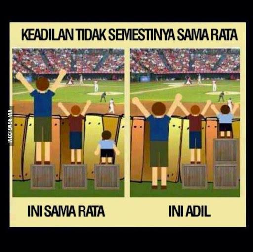 Sama Rata Versus Adil