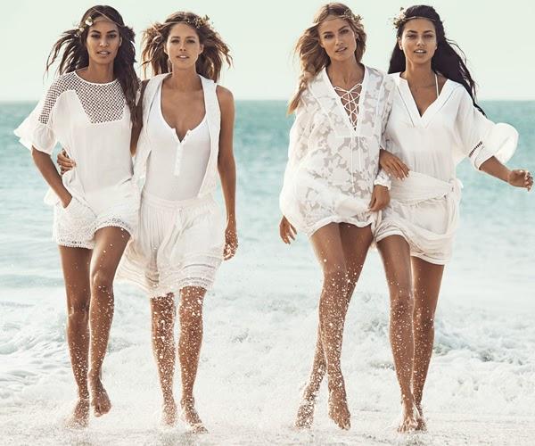 faldas blusas vestidos blancos H&M moda playa verano