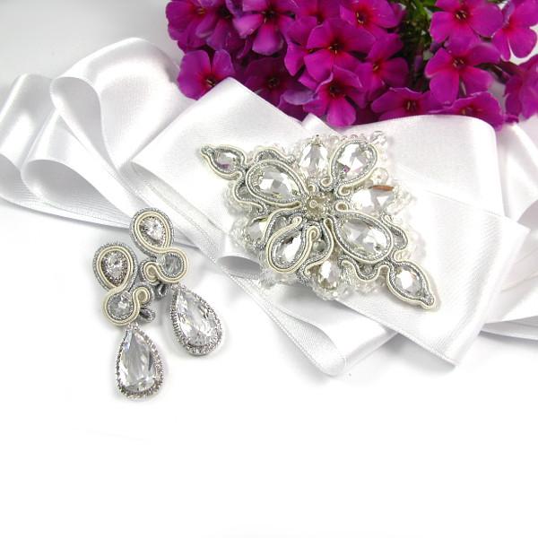 kolekcja ślubna prestige komplet biżuterii