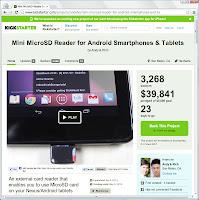 KickstarterのWebページ