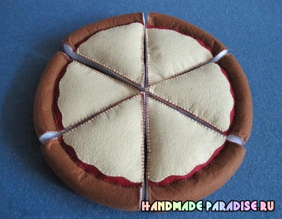 Пицца из фетра - развивающая игрушка для малыша