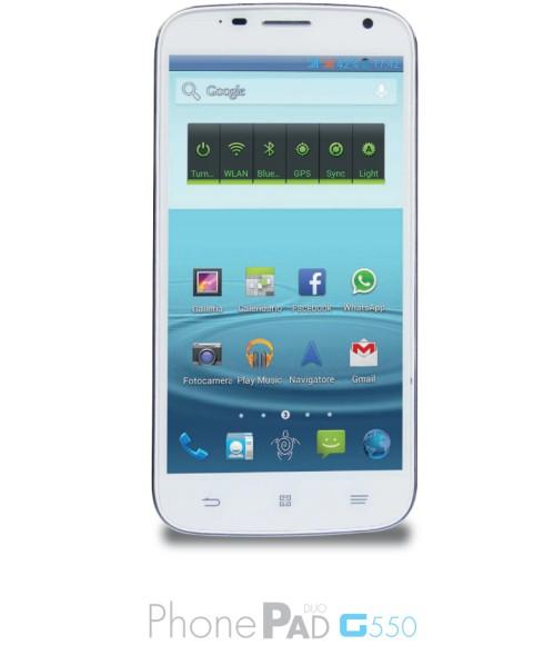 Smartphone phablet android dual sim Mediacom da 5,5 pollici serie G