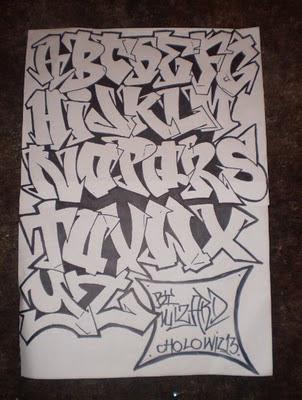 Graffiti Alphabet Letters A-Z by Wizard Cholowiz13