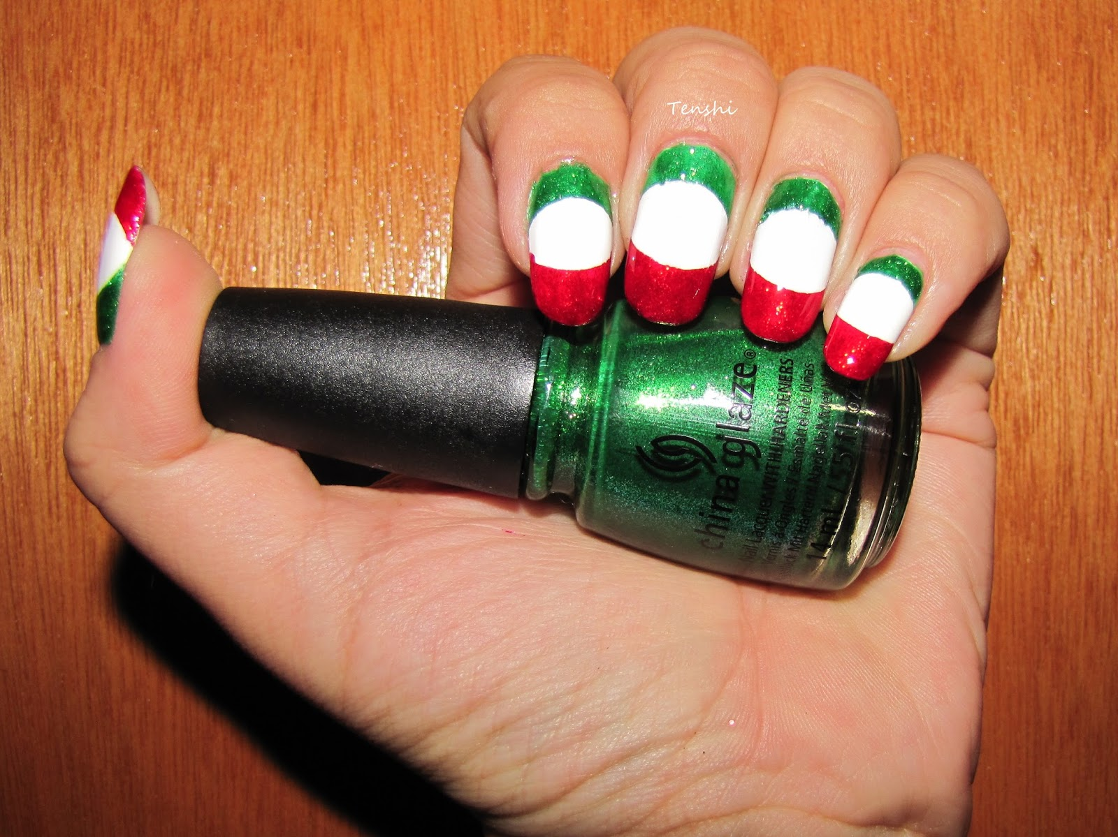 Nails by Tenshi: Uñas mexicanas