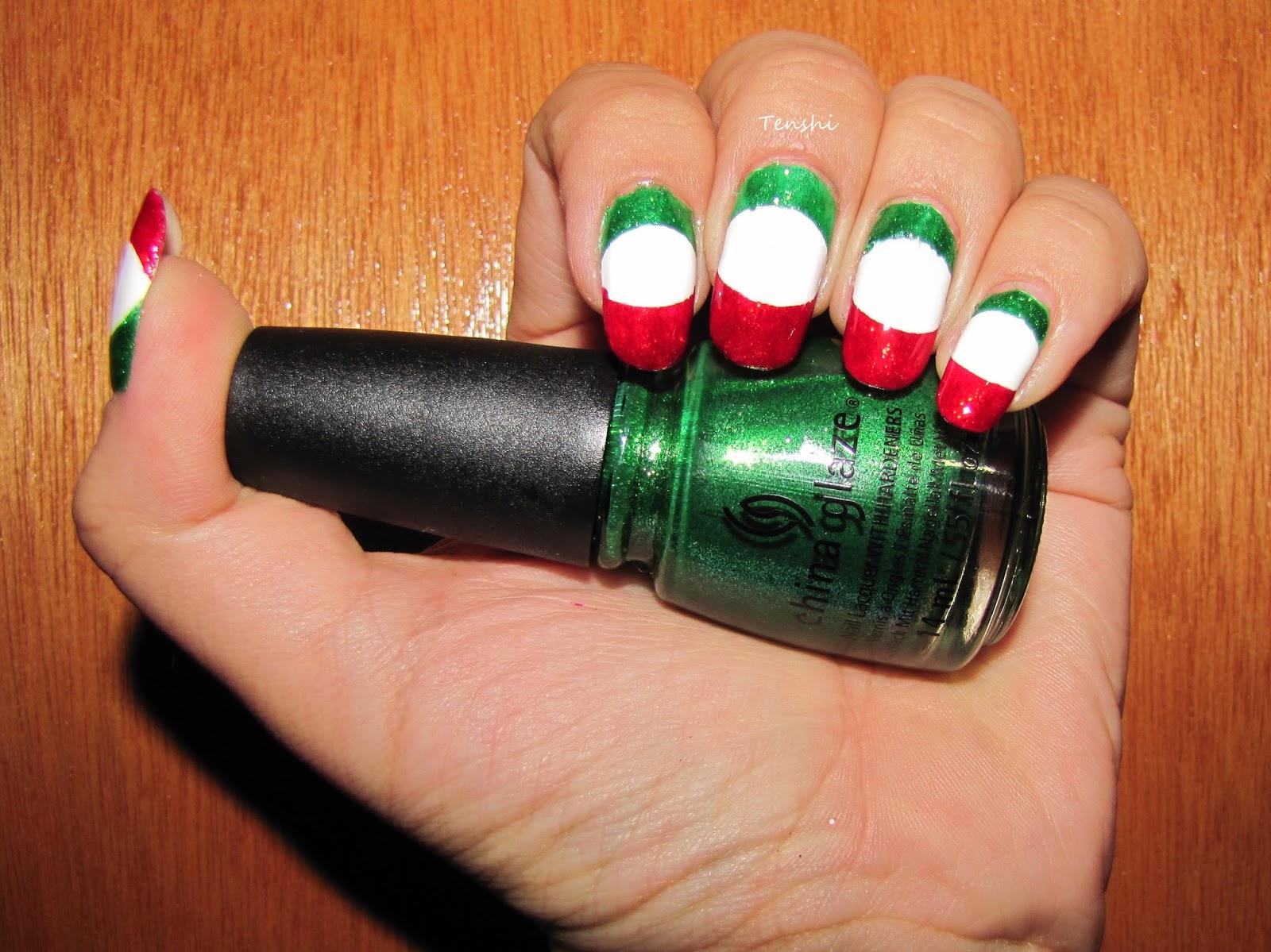 Nails by Tenshi: Uñas mexicanas