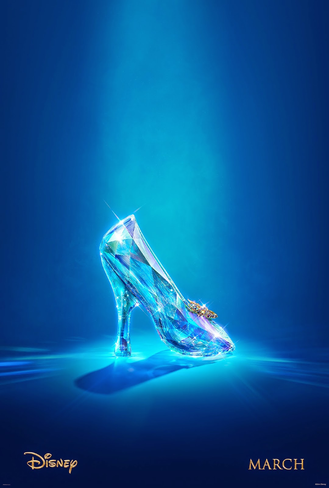 Cinderella Teaser Poster:  just a simple image of the legendary glass slipper