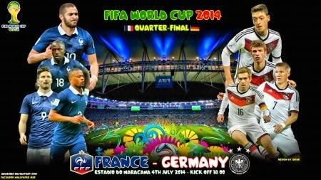 Prediksi Hasil Akhir Pertandingan Babak 8 Besar Piala Dunia 04/07/2014 France vs Jerman