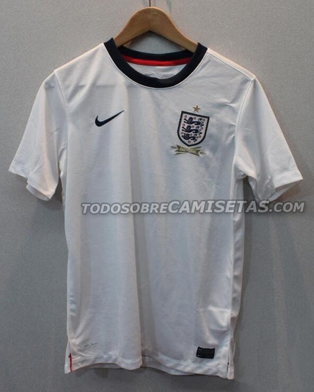 ... tenemos las imágenes de las que podrían ser las nuevas camisetas de la  Selección Inglesa de fútbol 8fb924fdc4876