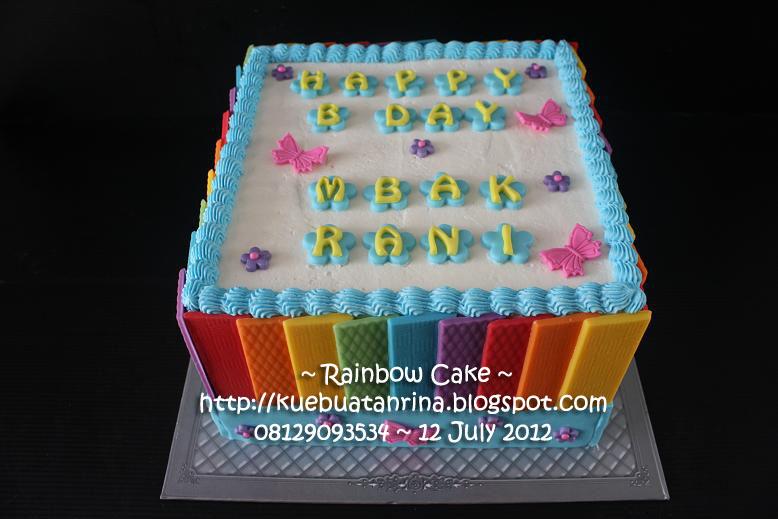 Cake Images Rani : Masama Cakes: Rainbow Cake For Rani s 14th Birthday...