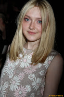 Dakota Fanning Marc Jacobs Collection Spring 2012 at N.Y. State Armory